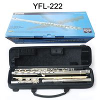 Japan flute YFL 222 16 hole E key Closed hole C Tune silver flute professional music instrument flauta transversal free shipping
