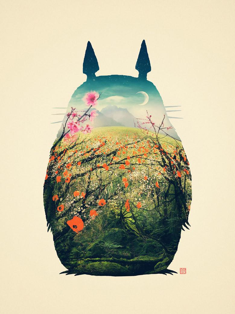 A-My Neighbor Totoro-010(80x60cm)