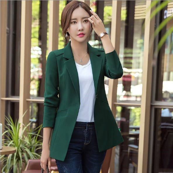 32731e12c05 Womens Business Blazers Long Sleeve Women Blazers and Jackets Plus Size  Office Blazers For Women Suits Black White Pink Green