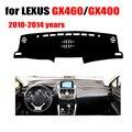 Tampa do painel do carro mat Para LEXUS GX400 GX460 2010-2014 anos de mão Esquerda drive dashmat pad traço cobre auto painel de acessórios para