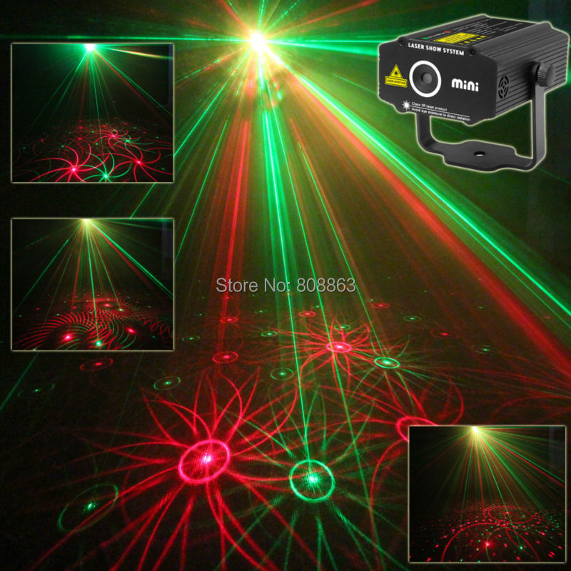 New Mini 4in1 Patterns Sunflower Whirlwind R&G Laser Projector Lighting Stage Disco DJ Club KTV Xmas family party light Show p17 new arrivals 5v 1 5a ac adapter stars gypsophila laser disco dj xmas party stage projector light eu plug black
