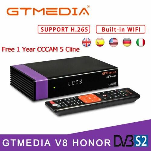 GTMedia V8 Honor Satellite Receiver Bult-in WiFi with 1 Year Spain Europe Cccam Cline Full HD DVB-S2/S same as V8 NOVA TV BOXGTMedia V8 Honor Satellite Receiver Bult-in WiFi with 1 Year Spain Europe Cccam Cline Full HD DVB-S2/S same as V8 NOVA TV BOX