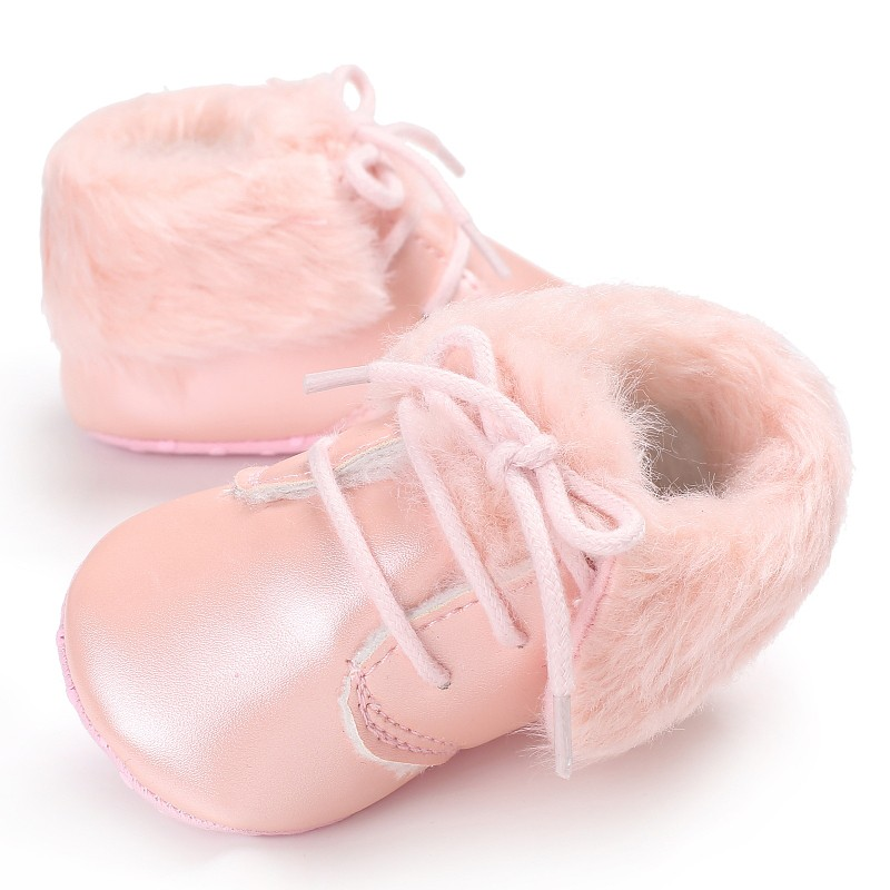 Baby Boys Girls Shoes Winter Ankle Crib Babe First Walkers Newborn Infant Toddler Lace Up Sneakers Keeping Warm Baby Shoes