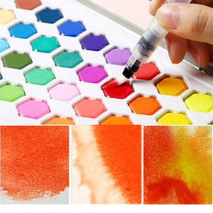 Image 5 - צבע בצבעי מים סט 36 צבע בצבעי מים צבע תלמיד מצויר ביד נייד ציור סט ברזל תיבת מים צבע אמנות ספקי