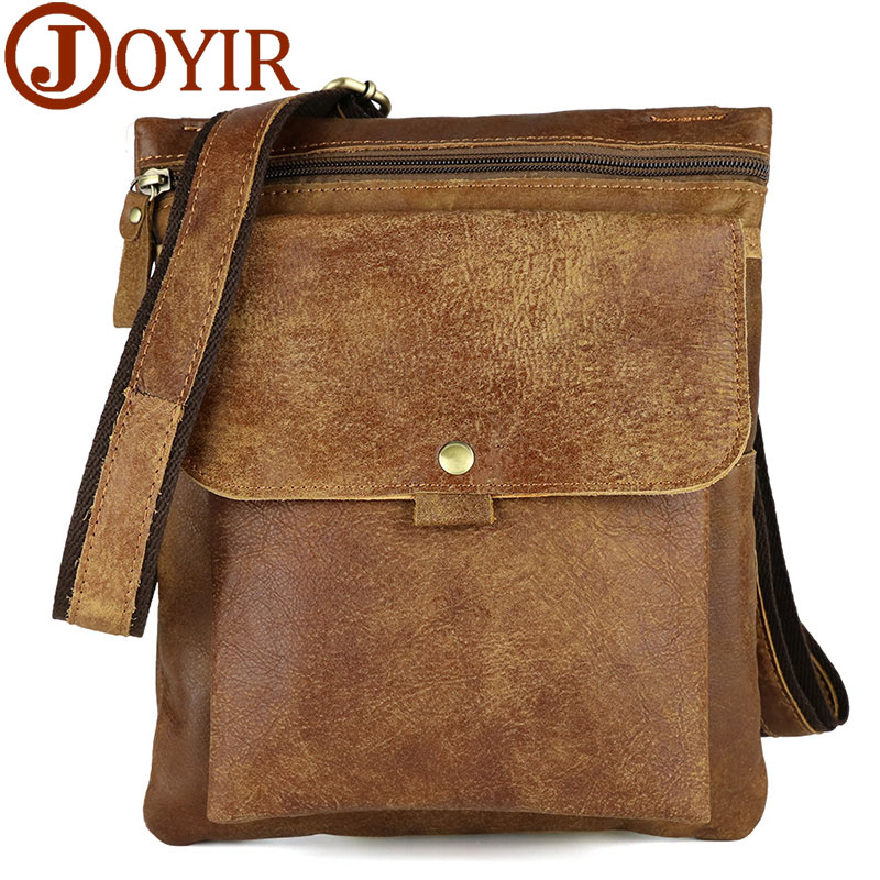 JOYIR Genuine Leather Men bags cowhide Men's Crossbody bags waist pack small bag for male men's messenger bag handbags 8303 vintage bags real genuine leather cowhide men waist pack pouch for men leather waist bag outdoor travle belt wallets vp j7144 page 9