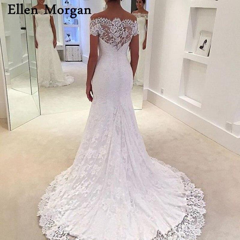 Sexy Mermaid Wedding Dresses for Women 2019 Vestido De Noiva Off Shoulder  Short Sleeves Summer Beach 079707689f88