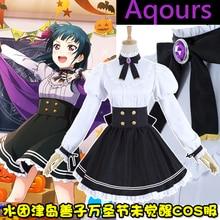 [Disponible] anime sol lovelive!! aqours tsushima yoshiko unawaken de halloween cosplay lolita dress uniforme escolar nuevo 2017