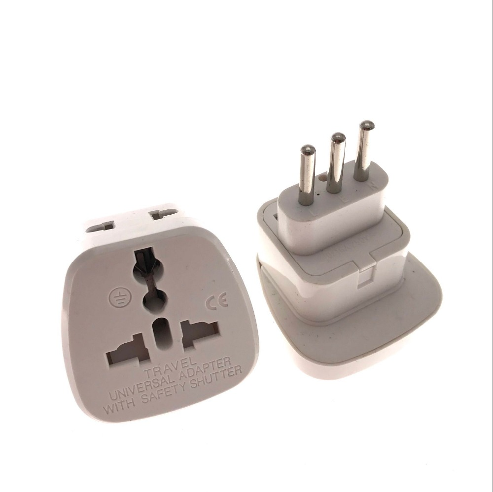 2 IN 1 Italy Converter Travel Adapter UK US EU AU to Italy Travel Power Adapter Plug For Home Travel Use with safty gate