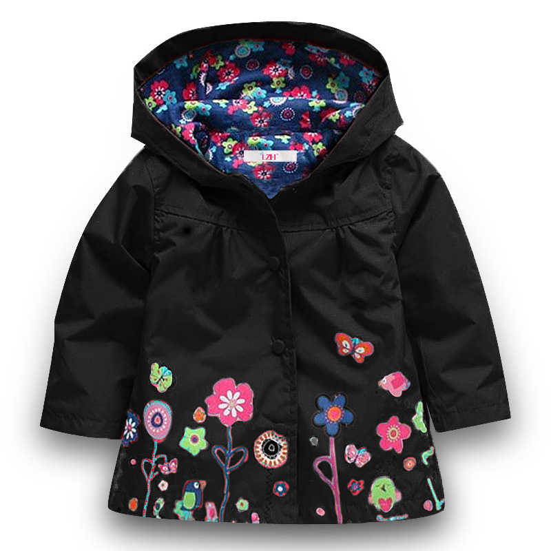 Lzh/мальчиков ветровка для куртка для девочек 2018 весенние осенние куртки для Плащи для девочек Детский дождевик верхняя одежда детская одежд...