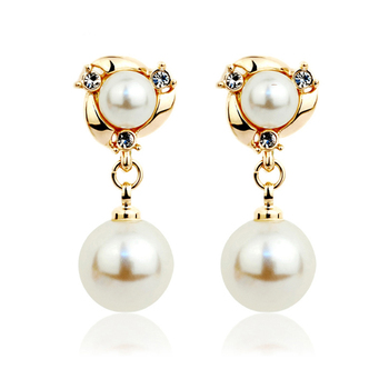 Women's Drop Crystal Earrings Earrings Jewelry Women Jewelry Metal Color: E014