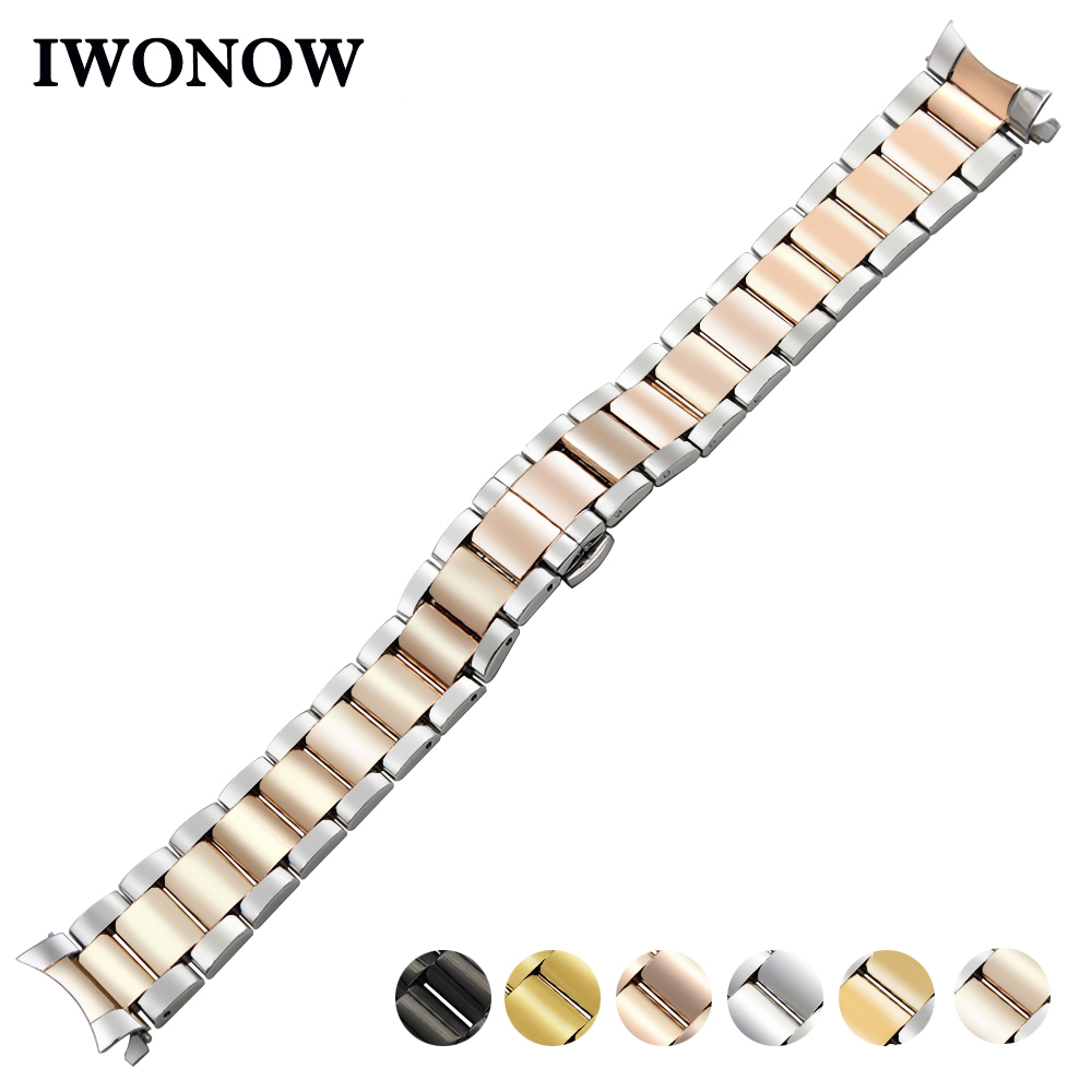 Stainless Steel Watch Band 18mm for Huawei Watch / Fit Honor S1 Curved End Strap Butterfly Buckle Belt Wrist Bracelet + Tool 20mm stainless steel watch band curved end strap for ticwatch 2 42mm butterfly buckle wrist belt bracelet black silver tool