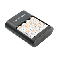 New product 4pcs 1.5 v 3000mWh AA Li polymer Li ion lithium polymer rechargeable batterie avec charger set+1 USB charger