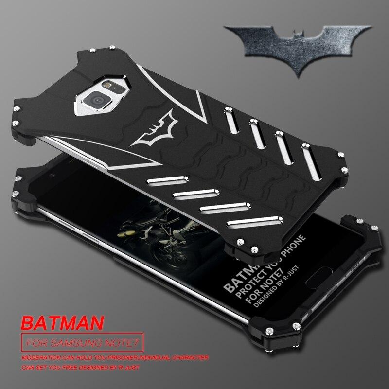 imágenes para R-just batman serie mucho polvo anodiz aluminio metal armor case para samsung galaxy s7 edge s7 s6 edge plus cubierta del teléfono de vivienda