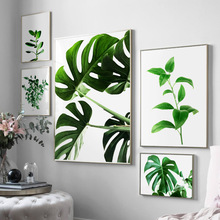 Wall Art Canvas Painting Fresh Green Monstera Small Plant Leaves Nordic Posters And Prints Wall Pictures For Living Room Decor wall art canvas painting fresh green monstera small plant leaves nordic posters and prints wall pictures for living room decor