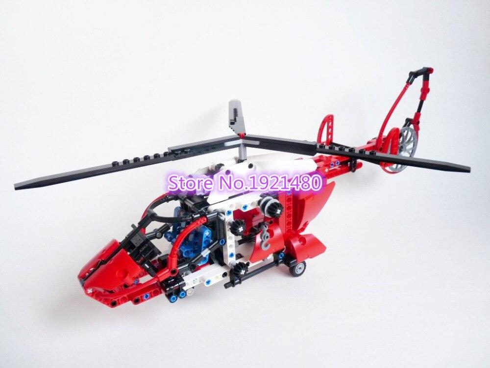 AIBOULLY 3355 serie Técnica el Helicóptero de Rescate Modelo Bloques de Construc
