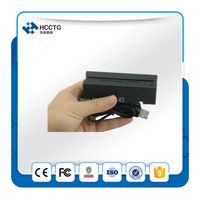 Hot Portable 3 tracks USB Bi directional low and high CO Magnetic Stripe Card Reader + free SDK HCC750
