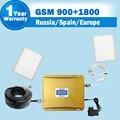 Display LCD GSM 900 DCS 1800 MHz celular Dual band repetidores e composição de antena amplificador booster de sinal de telefone móvel