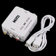 PAL NTSC secam в NTSC PAL ТВ видео Системы конвертер Switcher переходник Male-Female Неэкранированный Применение в мультимедиа