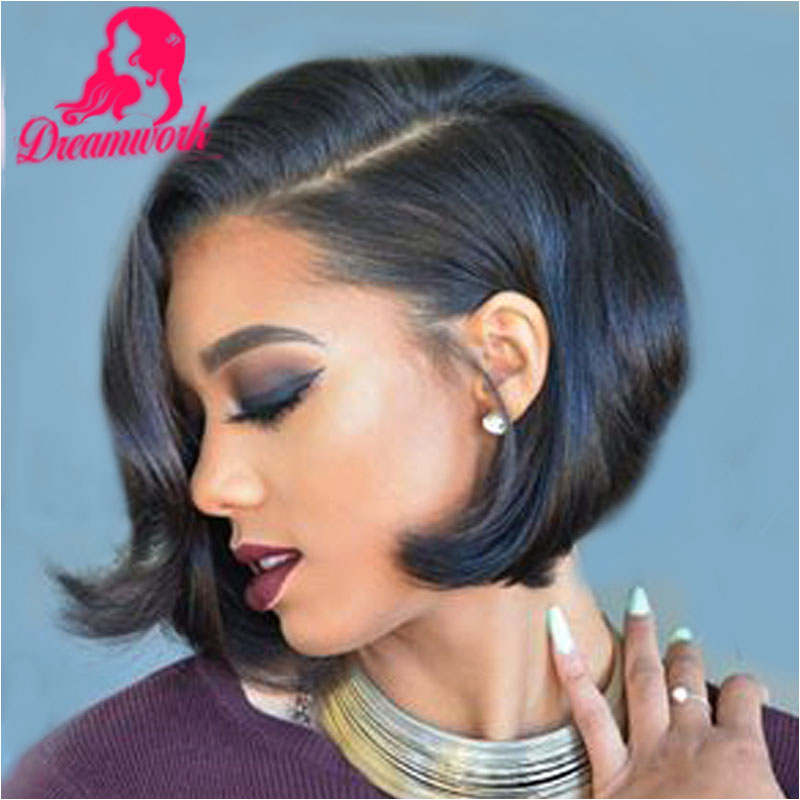 Sensational Aliexpress Com Buy Short Wavy Bob Wigs Human Hair For Black Hairstyles For Women Draintrainus
