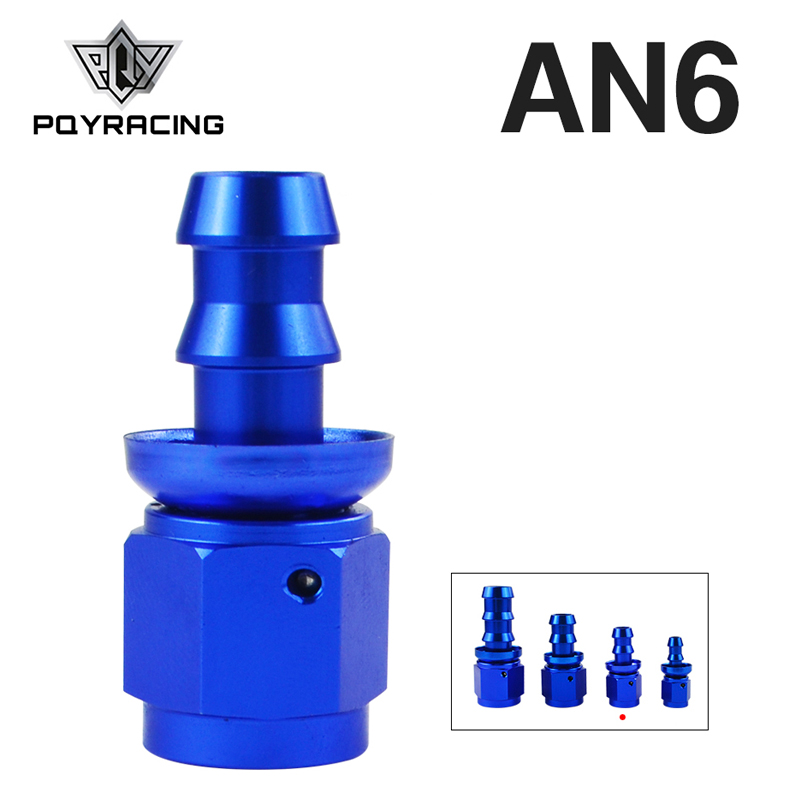 Pqy - An6 6an An-6 An-6 Straight Blue Push On Lock Socketless Hose End Fitting Adapter Pqy-sl2000-06-011 To Produce An Effect Toward Clear Vision