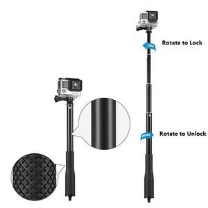 "Image 4 - 36"" Go Pro selfie Stick Action Camera diving Extendable Aluminium Selfie Monopod For GoPro HERO + SJCAM For Xiaomi yi 4k"
