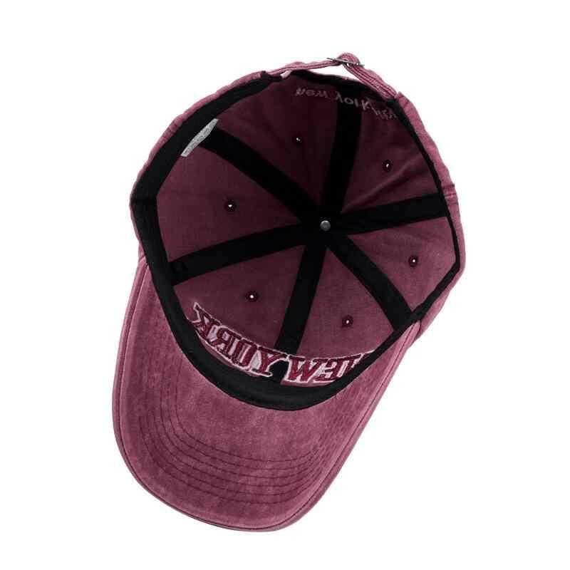Piasek myte 100% bawełniana czapka baseballowa kapelusz dla kobiet mężczyzn vintage tata kapelusz NEW YORK haftowana litera odkryte czapki sportowe