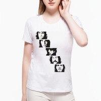 Fajne Pink Floyd Kobiety Harajuku T Shirt Jeden Rrection Rock Roll zespół Top Lady Casual Krótki Rękaw Nowość Ubrania Dla Kobiet L9G150