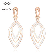 Viennois Gold & Rose Color Dangle Earrings Classic Enamel Metal Drop Earring For Women Jewelry 2019