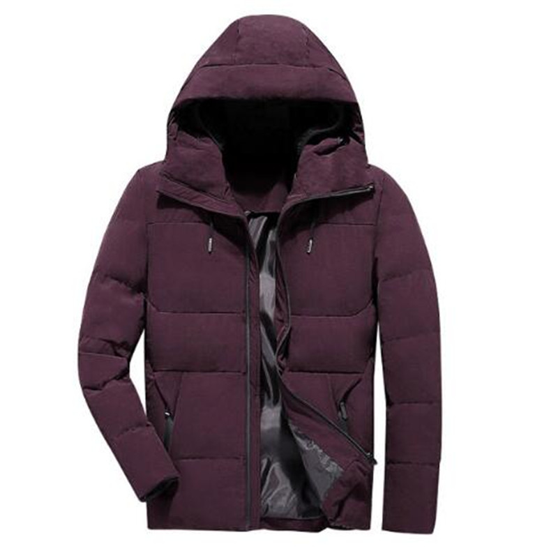 2018 Winter Jacket Stand Collar Hooded Collar Fashion Coat Men   Parka   Outerwear Warm Slim fit 4XL