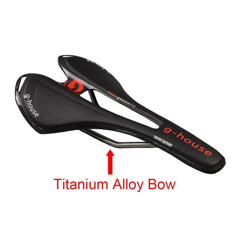 New Carbon Fiber+PU Leather + Titanium Alloy Bow Bicycle Saddle Road/MTB Bike Saddle Cycling Bike Seat Saddle Cushion Bike Parts