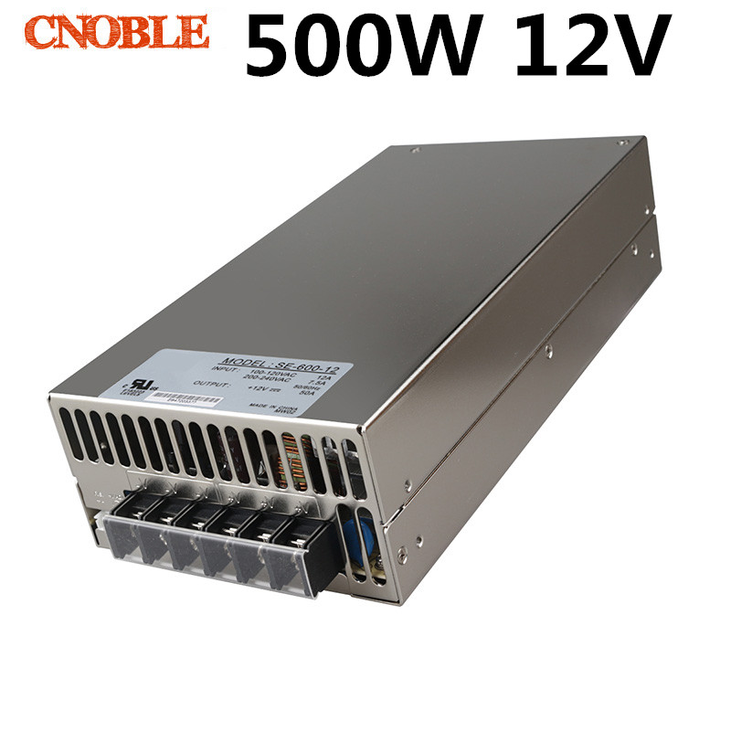 500W 12V 40A 220V INPUT Single Output Switching power supply for LED Strip light AC to DC Free shipping 480w 500w led switching power supply 12v 40a power supply 12v output 85 265ac input free shipping