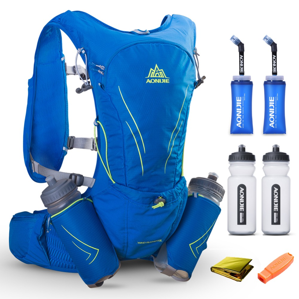 15L AONIJIE Men Women Hydration Backpack Outdoor Running Trail Racing Marathon Fitness Hiking Rucksack Bag 2