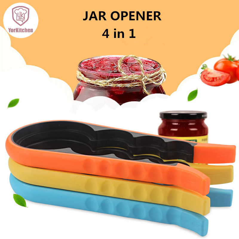 4 in 1 Premium Quality Get Lids Off Easily Plastic Jar Can And Bottles Opener Free Shipping