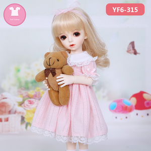 1/12 BJD Doll Clothes OB11 Dolls Cartoon Animal Plush Coat for obitsu11 Mollys baby Doll Accessories Birthday Gift(China)
