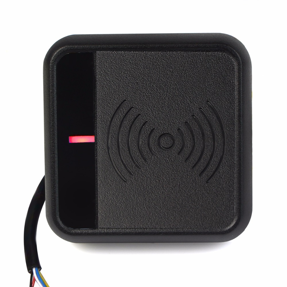 Door Access Control System WG26/34 ID Card Reader 125KHz RFID Card Reader For Access Control System Home Security F1700A card reader waterproof access control system for rfid wg26 34 interface economic for home f1684a