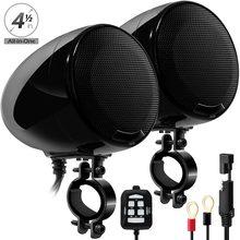 Aileap SPK400-D 2 Kanal 4,5 Zoll Motorrad Bluetooth Lautsprecher 600W Verstärker Stereo Audio System Unterstützung AUX MP3 (Schwarz)