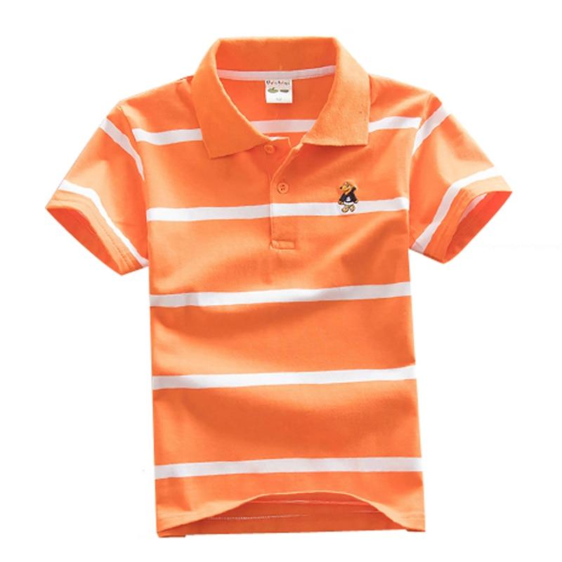new arrival children t shirts boys clothes casual cotton kids t shirt summer boys striped short sleeve cotton polo shirt DQ300