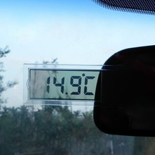 Suction Cup LCD Car Digital Window Thermometer Celsius Fahrenheit 12V Car Accessories