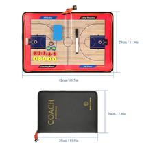 RUNACC Basketball Dry-Erase Board Folding Basketball Strategy Clipboard  Basketball Coach Magnetic Tactic Board Zipper Closure