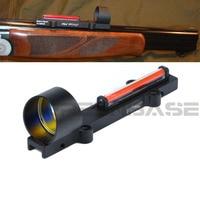 1X28 Collimator Sight Red Circle Dot Scope Rib Rail Fiber Optic Sight Condutor Reflex Sight Fit 11mm Rail Mount Airsoft Shot gun