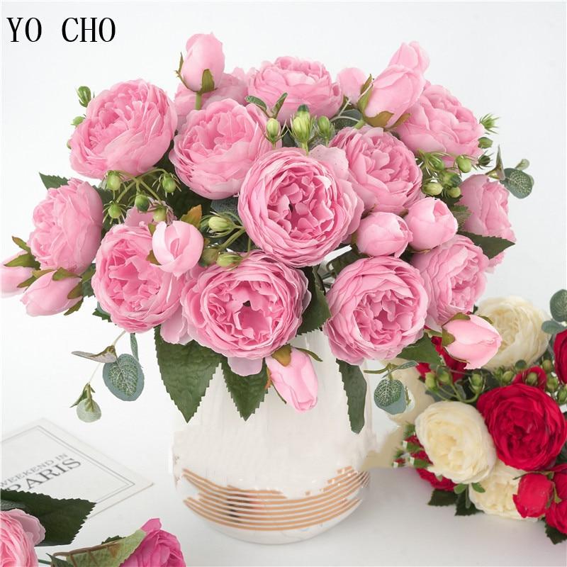 artificial flower silk peony bouquet (11)