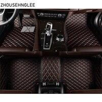 zhoushenglee leather car floor mats for Audi Q7 2006 2007 2014 2015 2016 2017 2018 Custom auto foot Pads automobile carpet cover