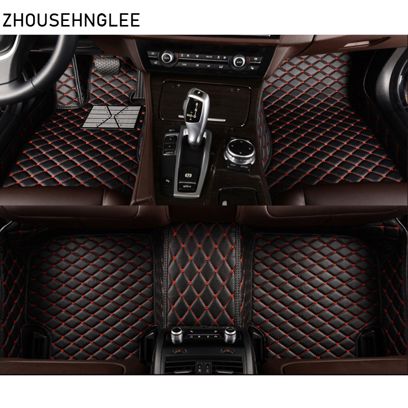 zhoushenglee leather car floor mats for Audi Q7 2006 2007 2014 2015 2016 2017 2018 Custom auto foot Pads automobile carpet cover