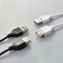 Câble de données de charge dextension USB haute vitesse 1.5M noir USB 2.0 A à un câble dextension femelle mâle (seul le câble dextension est)