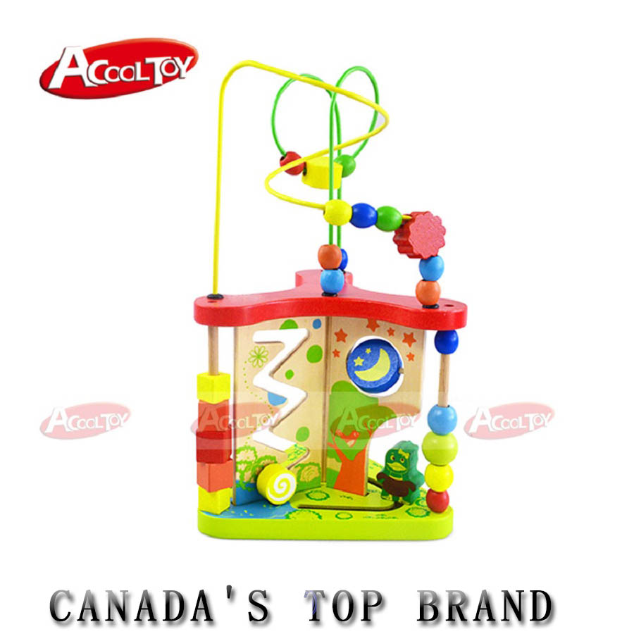 Kids Toys Wood Puzzles for Children Multi-function Wooden Around Bead Maze Shape Top Quality 3d Puzzle Juguete Madera for Baby wooden bead maze activity center box multi function round beads box cube wood toys unisex kids multipurpose educational toy