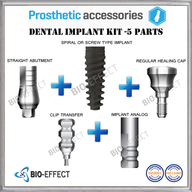 1x Dental Implant 5 Part Kit 1 Inspire Or Phantom Implant