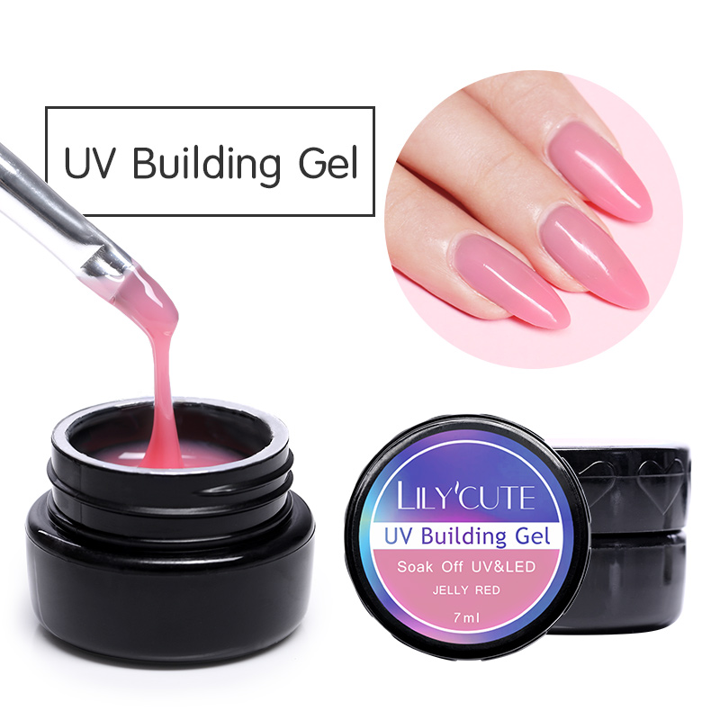 LILYCUTE 7ml Poly Extension Gel Quick Building Design UV Gel Polish Manicure Nail Finger Extension Care