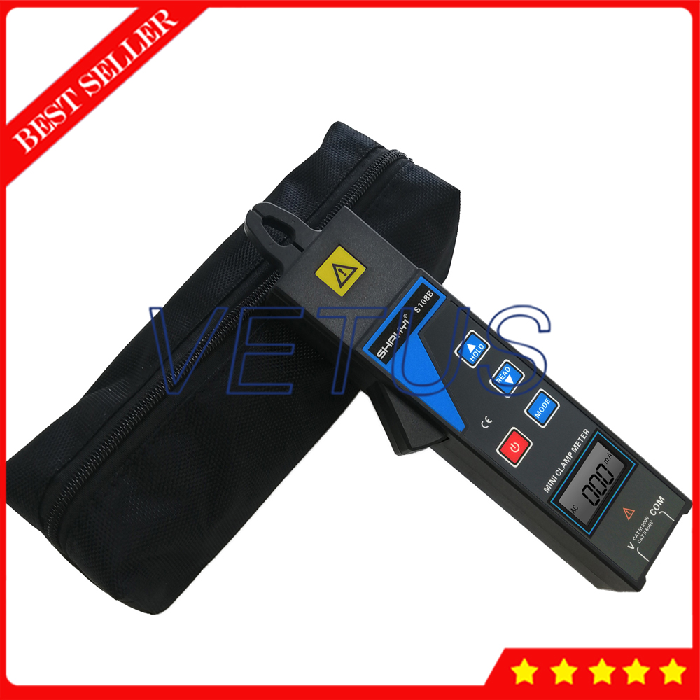 S108B Mini Clamp Current Leakage Meter With Voltage 0 to 600V Current 99 sets data save For Online test 380/220V power system