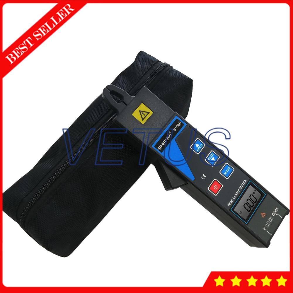 S108B Mini Clamp Lekstroom Meter Met Spanning 0 tot 600V Stroom 99 sets data besparen Voor Online test 380/220V power systeem