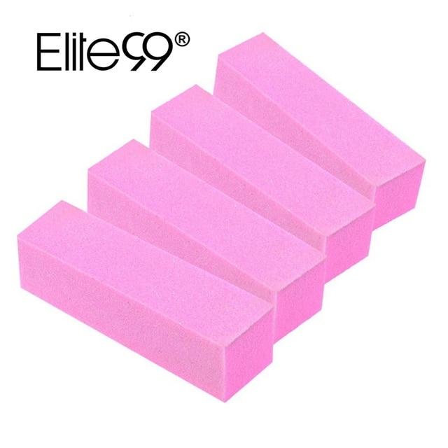 Elite99 4 Stück/1 satz Rosa Nagel Puffer Pediküre Maniküre Pflege Buffer Nail art Werkzeug Schleif Block Makeup Polnischen werkzeuge Nagel Kunst